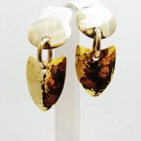 Gold Geometric Earrings 014
