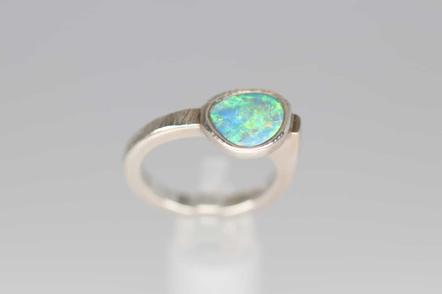 1b6ade7f432a3 Hammered Opal Ring