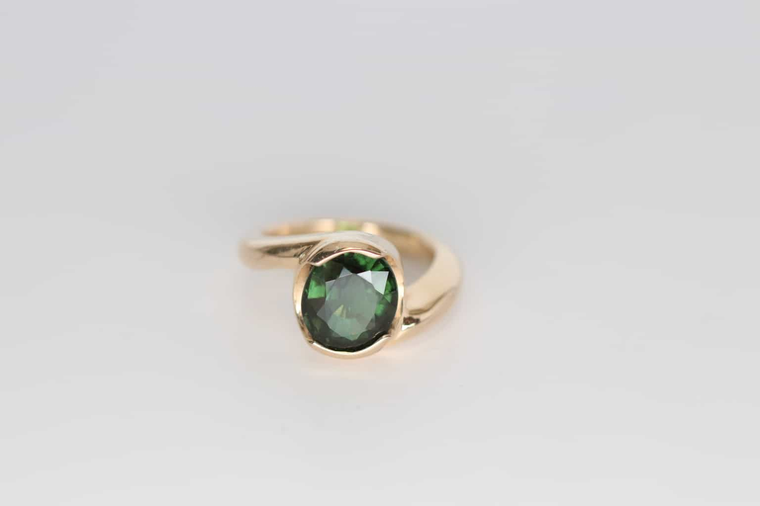 ring tourmaline engagement green costagli gold zircon rings blue white an products paolo buy and