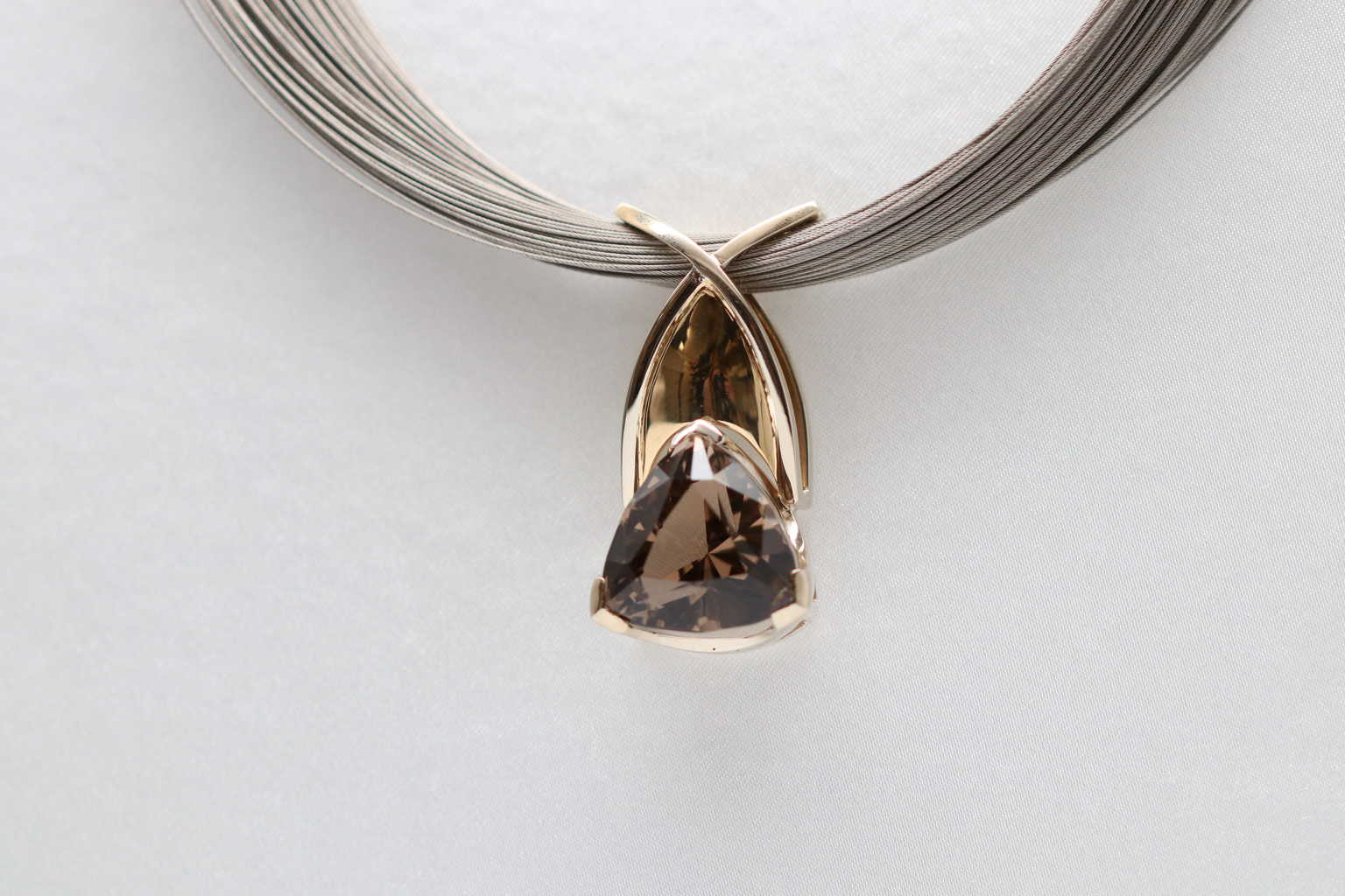 1920ct smokey quartz pendant david adams fine jewelry 1920ct smokey quartz pendant mozeypictures Image collections
