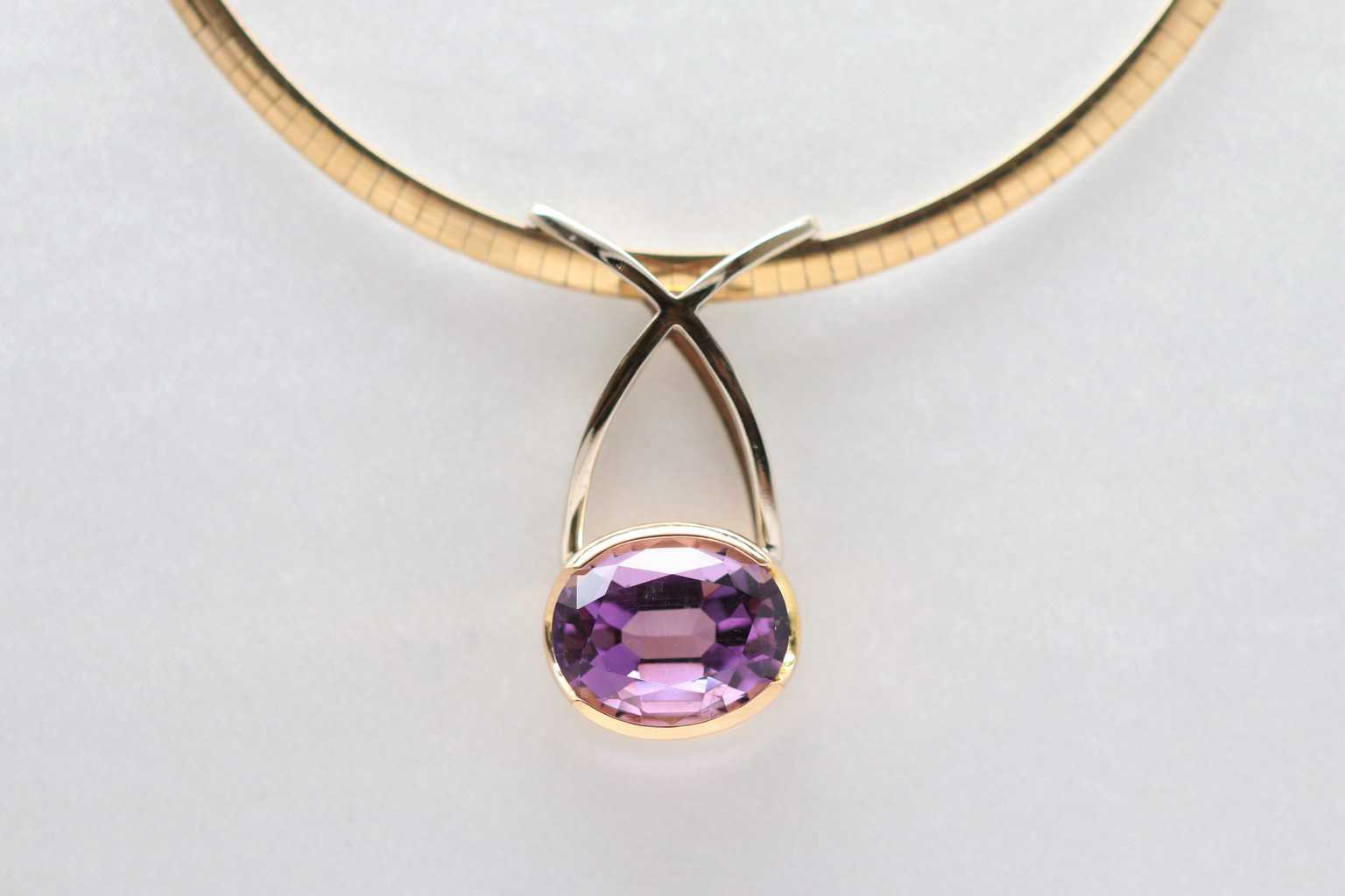 Gemstone pendants david adams fine jewelry oval amethyst pendant aloadofball Image collections