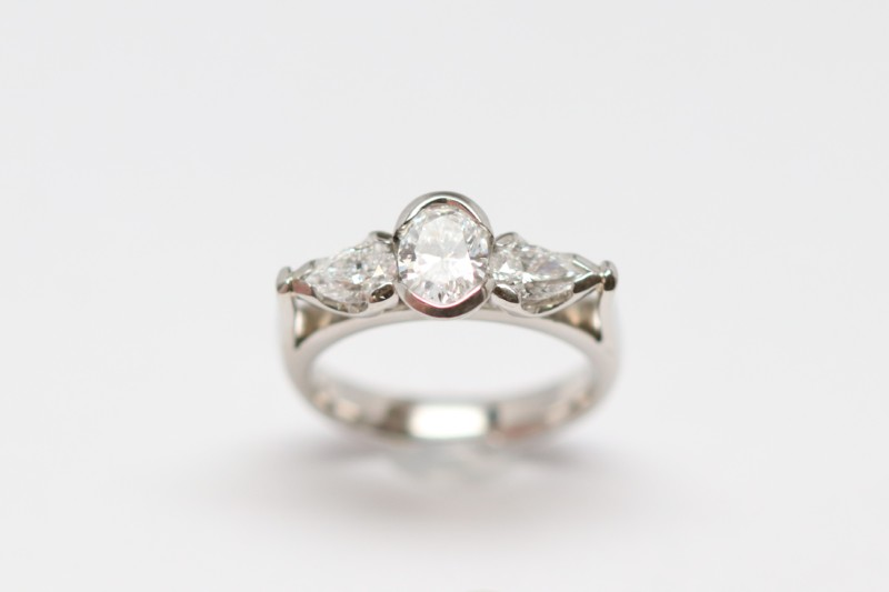 Platinum 3 Stone Ring David Adams Fine Jewelry